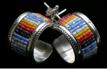 Multicolor Beaded Earring Hoops