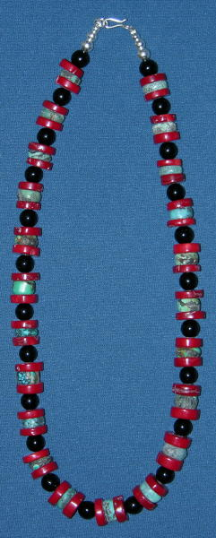 Cascade of Turquoise and Coral Necklace