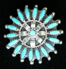 Navajo Needlepoint Pin / Pendant