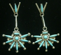 Earrings Zuni Star