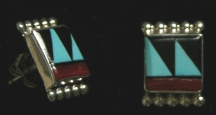 Earrings Zuni Inlay
