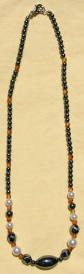 Hematine Talisman Necklace with Beads.
