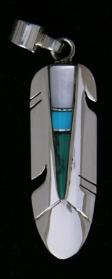 Pendant Feather With Inlays