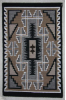 Navajo Rug, Two Grey Hills, Classic Design, R. Nez