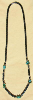 Hematine Talisman Necklace with Turquoise Stones.