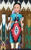 Shideeshi - Navajo Doll in traditional clothing by Sarah Joe